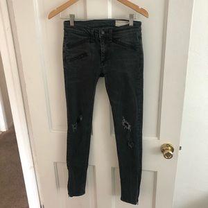 Rag and Bone Skinny Ankle ZIP Jeans